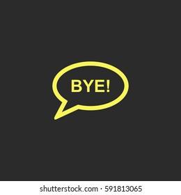 Bye vector  icon.