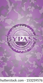 Bypass pink and purple on camouflaged pattern. Vector Illustration. Detailed.