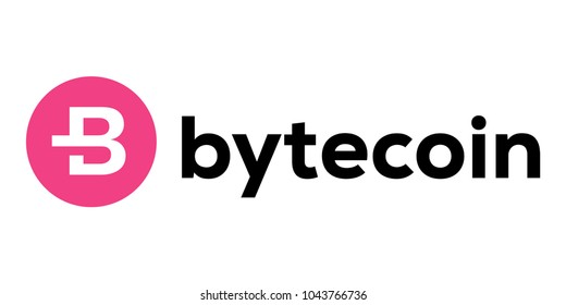 Bytecoin Cryptocurrency virtual money symbol of bytecoin. Isolated vector illustration with white background.