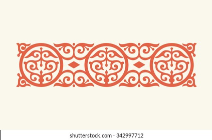 Byzantine traditional ornament