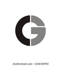 C 3 letter  logo circle.G letter logo circle .C E letter logo circle.unique design.vector illustration