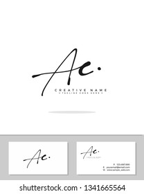 A C AC initial logo signature template vector. Handwriting concept logo.