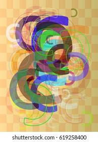 C Alphabet art texture