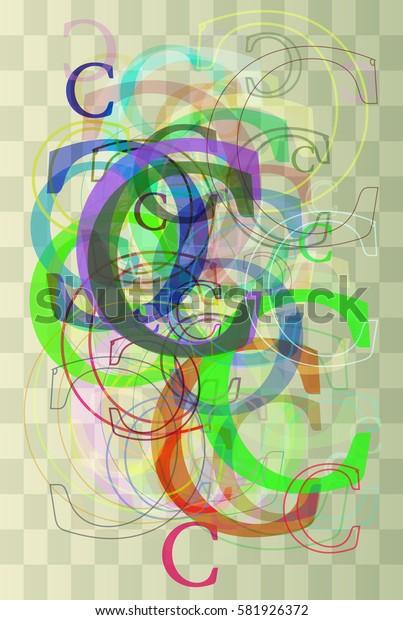 C Alphabet idea background