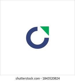 C arrow logo design vector sign