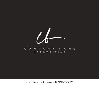 C B Initial handwriting logo