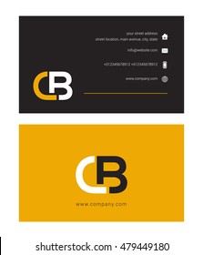 C B Letter logo with Business card