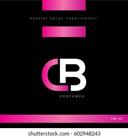 C & B Letter logo design with packaging design template