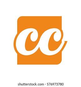 c, cc letter initial logo design