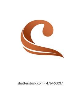 C chocolate letter logo