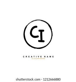 C I CI Initial abstract logo concept vector