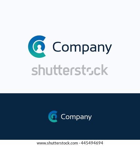 C Company Letter Alphabet Person Logo Stock Vektorgrafik Lizenzfrei