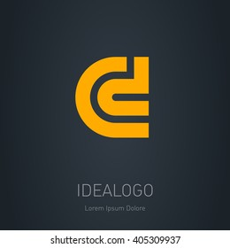C and D initial logo. C and D initial monogram logotype. Vector design element or icon.