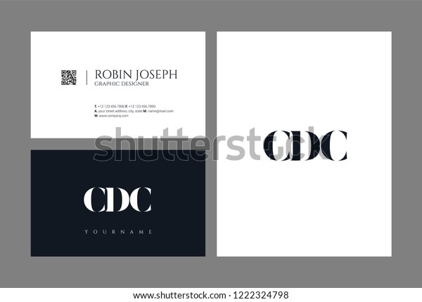 C D C Letters Joint Logo Stock Vector (Royalty Free) 1222324798