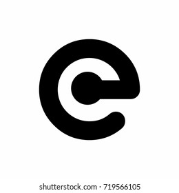 C and E logo concept in black