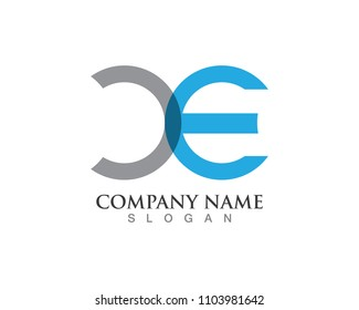 C and E logo template