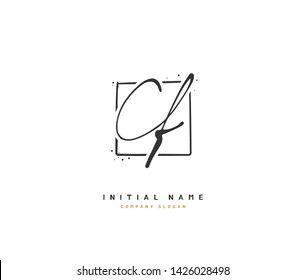 C F CF Beauty vector initial logo, handwriting logo of initial signature, wedding, fashion, jewelry, boutique, floral and botanical with creative template for any company or business.