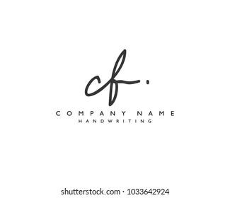 C F Initial handwriting logo