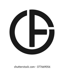 c and f logo vector.