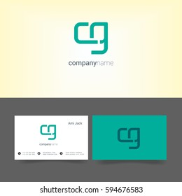 C & G Letter logo, with Business card Template