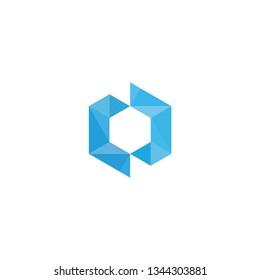 c hexagon logo vector