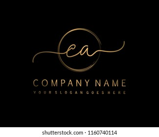 C A Initial handwriting logo vector