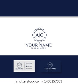 A C initial logo, AC logo Design with white Colors vector template