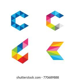 C Initial Logo Vector