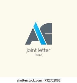 A C joint letter logo design template