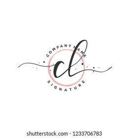 C L CL Initial logo template vector