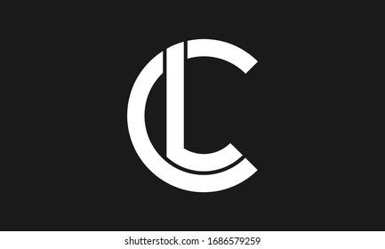 C , L , LC , CL letter logo design and monogram logo