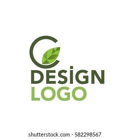 C Leaf logo design
