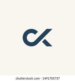 C letter CK initial logo vector icon mark illustration