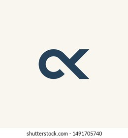 C letter CK initial logo vector icon mark illustration
