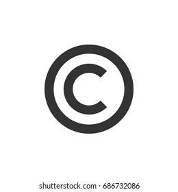 C Letter Copyright Logo Template Illustration Design. Vector EPS 10.