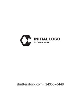 C letter design concept for business or company name initial