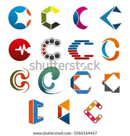 C Letter Icon Business Corporate Identity Stock Vector Royalty Free