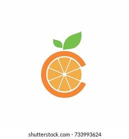 C letter initial orange logo.