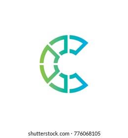 C Letter Logo Design Vector Template, Modern Illustration