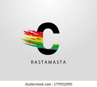reggae logo images stock photos vectors shutterstock https www shutterstock com image vector c letter logo splatter rasta color 1779552995