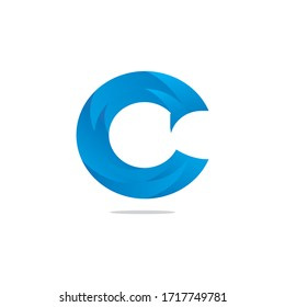 c letter o letter q letter gradient light color vector design