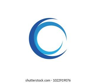 C Letter Water wave Logo Template vector illustration design