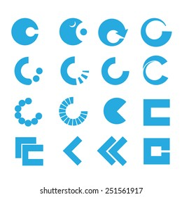 C Lettering - Isolated On White Background - Vector Illustration, Graphic Design, Editable For Your Design