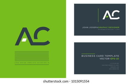 A C, A & C Letters joint logo icon with business card vector template.