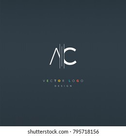 A & C Letters joint logo icon vector element.