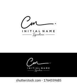 C M CM Initial letter handwriting and signature logo.