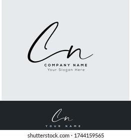 C N CN Initial letter handwriting and signature logo.