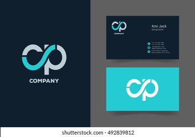 C & P Letter logo, with Business card