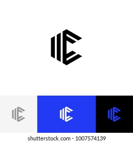 C in rhombus vector. Minimalism logo, icon, symbol, sign from geometric letter c. Flat logotype design with blue color for company or brand.