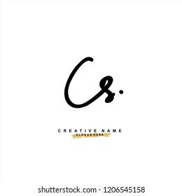 C S CS Initial abstract logo concept vector